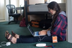 Students at the Minerva Schools at KGI take classes through an online program. The students are required to live together in the same city, but they are allowed to log on anywhere to attend classes. (Credit: submitted photo, Minerva Schools at KGI.)