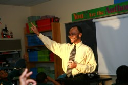 Clarence McNeil, a fifth-grade science teacher at North Star Academy's Downtown Middle School in Newark, says hard work is necessary to close the achievement gap. (Photo: Uncommon Schools)