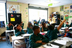 """""""The achievement gap is very real, and it's killing my people,"""" says Clarence McNeil, a fifth-grade science teacher at North Star Academy's Downtown Middle School in Newark. (Photo: Uncommon Schools)"""
