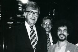 Al Shanker, organizer Paul Bradford, and the author, c. 1979