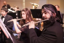 Music students at the University of Alaska, Anchorage. The music program is being pitted against other departments in the competition for funds.