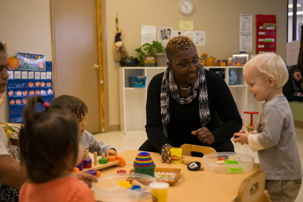 Regina Le Flore, owner of Little People Montessori in Lyons, Ill., says she would love more strategies to help children with significant behavior problems stay enrolled at her center.