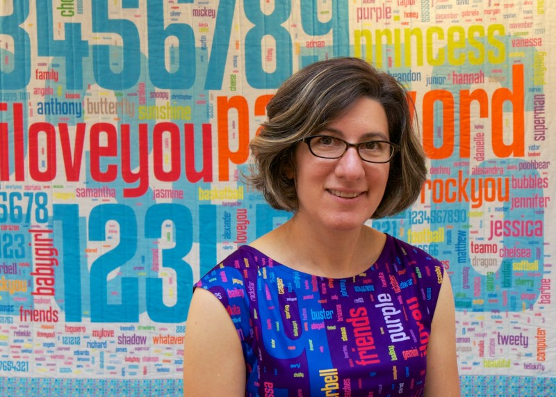 Lorrie Faith Cranor, a professor of computer science and of engineering and public policy in her office at Carnegie Mellon University in Pittsburgh, Pa.