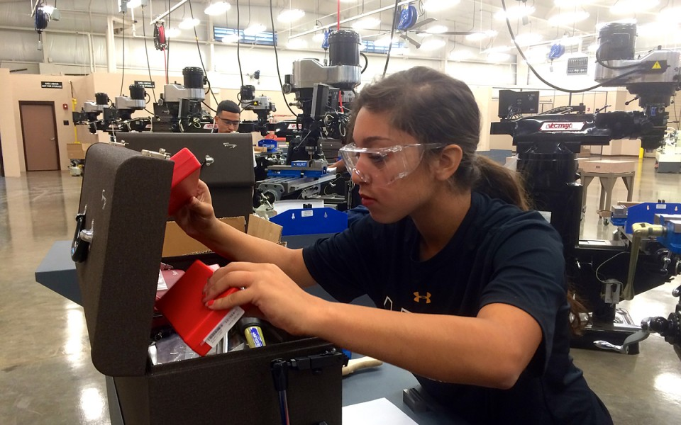 "Leeanna Rayes, 16, was looking for something ""different"" when she applied to the Greater Waco Advanced Manufacturing Academy, which gives students hands-on training and then guarantees them a job upon graduation."