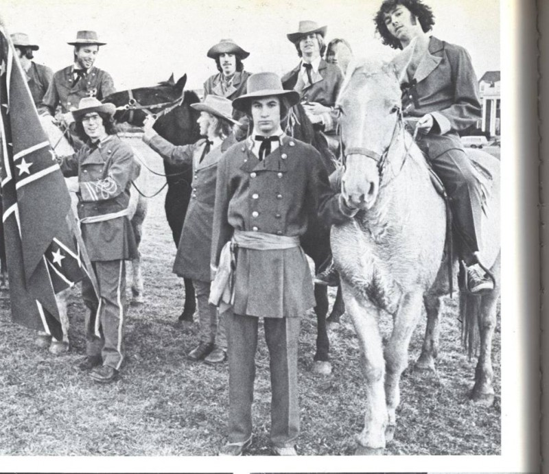 KA Order in Confederate garb, in the 1975 Terrapin.