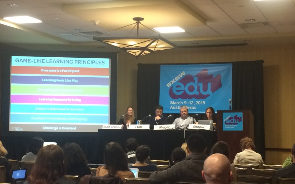 A panel on New York City's Quest to Learn School presents strategies to replicate the school's model.