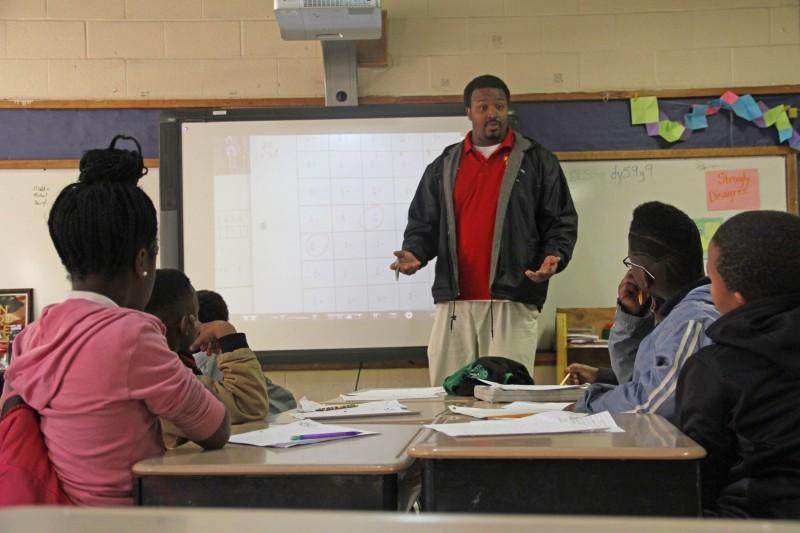 Ricardo Sacks teaches a morning remediation class at Quitman County Elementary.