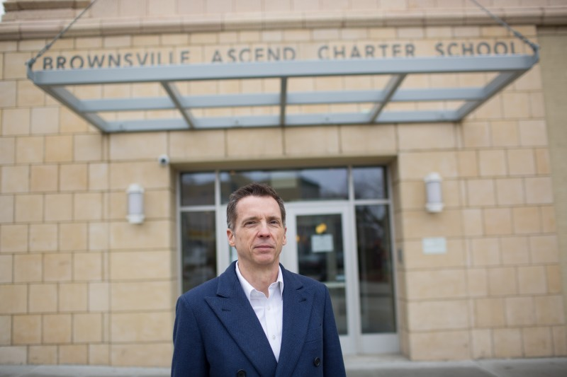 Ascend CEO Steven F. Wilson helped persuade Goldman Sachs and other investors to loan a developer more than $45 million to restore a historic abandoned theater that now houses three Ascend schools.