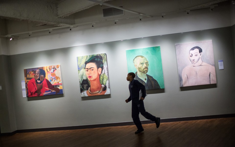 Brooklyn Ascend Charter School was designed to look like an art museum, with high-quality replications of famous paintings from around the world.