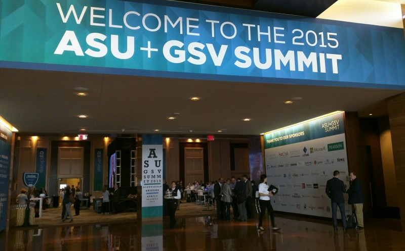 The crowd Tuesday at this year's ASU+GSV Summit in Scottsdale, Arizona.