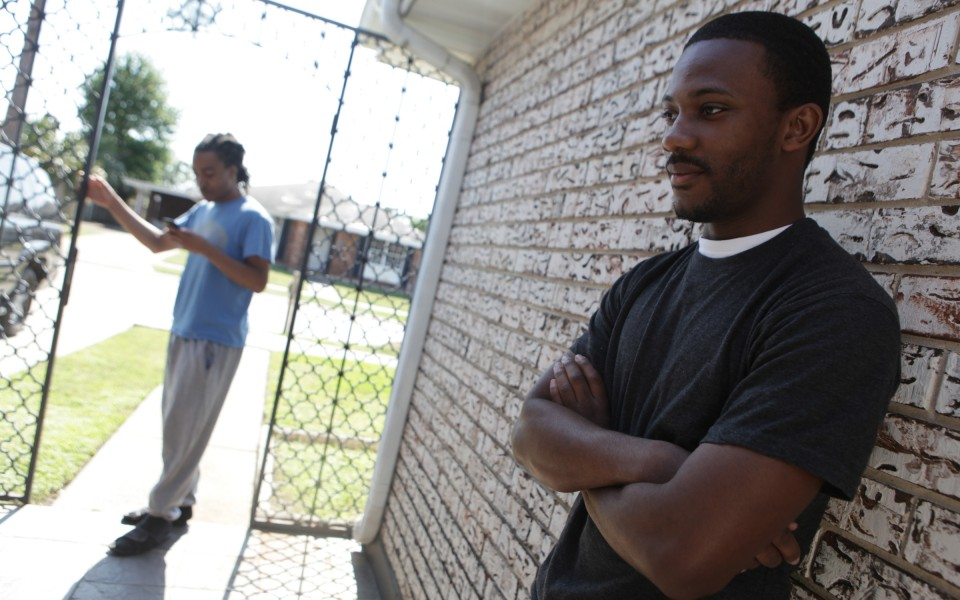 For Devante Lee, the year that Katrina happened basically doesn't exist. He believes that others his age also avoid looking back. Only now, a decade later, are advocates and researchers beginning to grasp the lasting effects of this post-storm duress. (Photograph by Tyrone Turner)