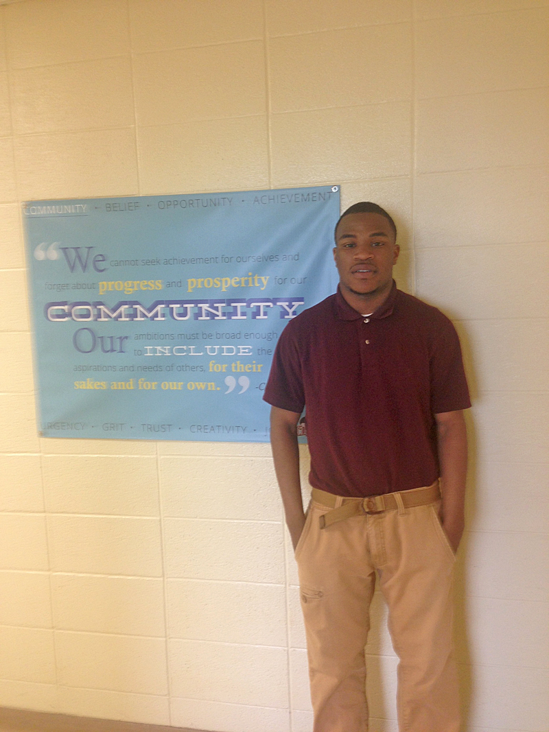 DeAngelo Bryant, 19, plans to begin welding classes at Coahoma County Community College this summer.