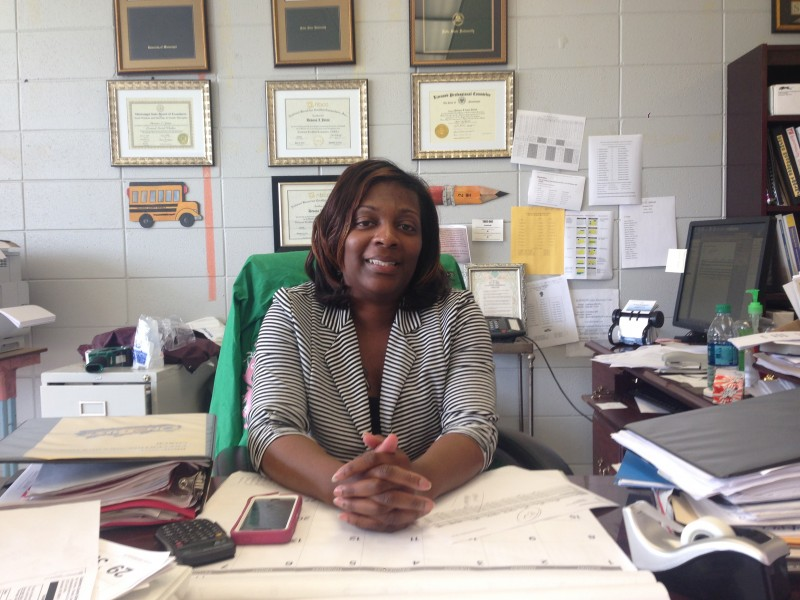 """""""We have parents who don't have the capacity to help the kids,"""" says Devona Jones, above, dropout prevention coordinator for the Coahoma County School District."""