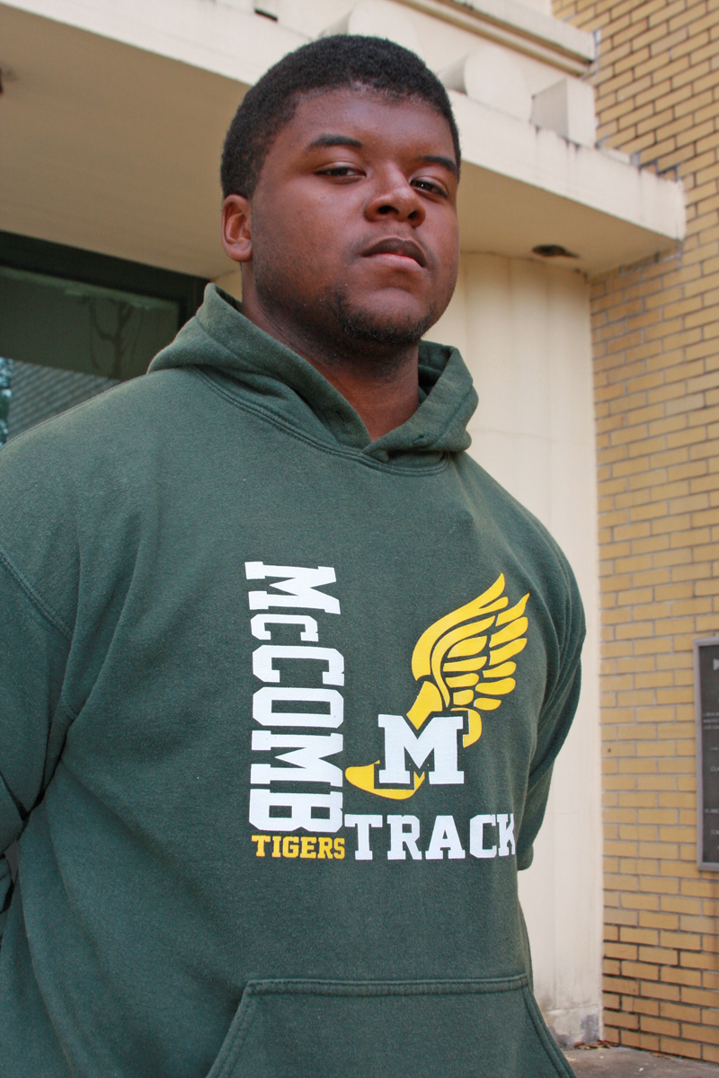 Lakeivion Isaac, 17, carries a 4.11 GPA and placed third in the state championships in the discus throw.