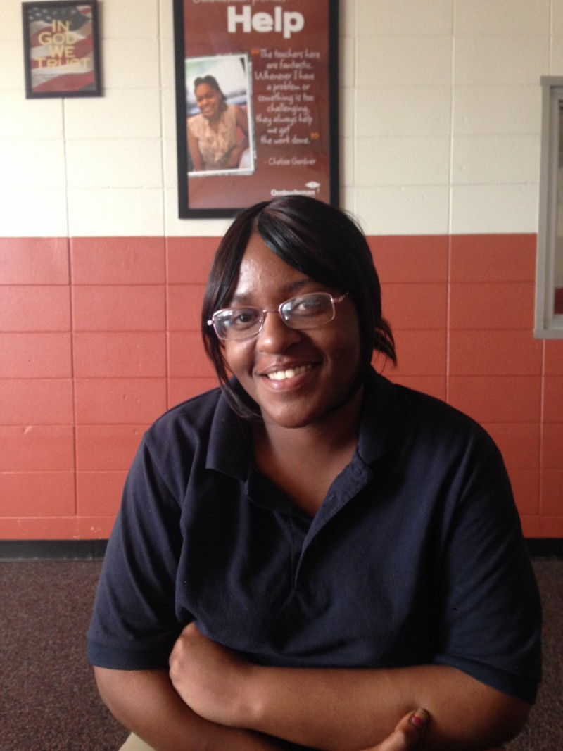 Shanika Lewis, a student in Clarksdale's Ombudsman program, dropped out of school in seventh grade.