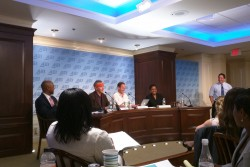 "A panel discussion during ""The State of Entrepreneurship in K-12 Education,"" a conference hosted Wednesday at the American Enterprise Institute in Washington, D.C."