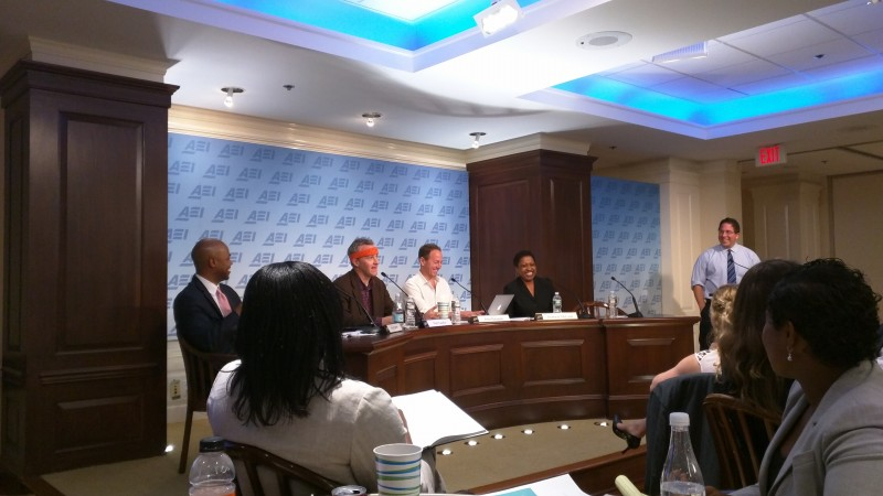 """A panel discussion during """"The State of Entrepreneurship in K-12 Education,"""" a conference hosted Wednesday at the American Enterprise Institute in Washington, D.C."""