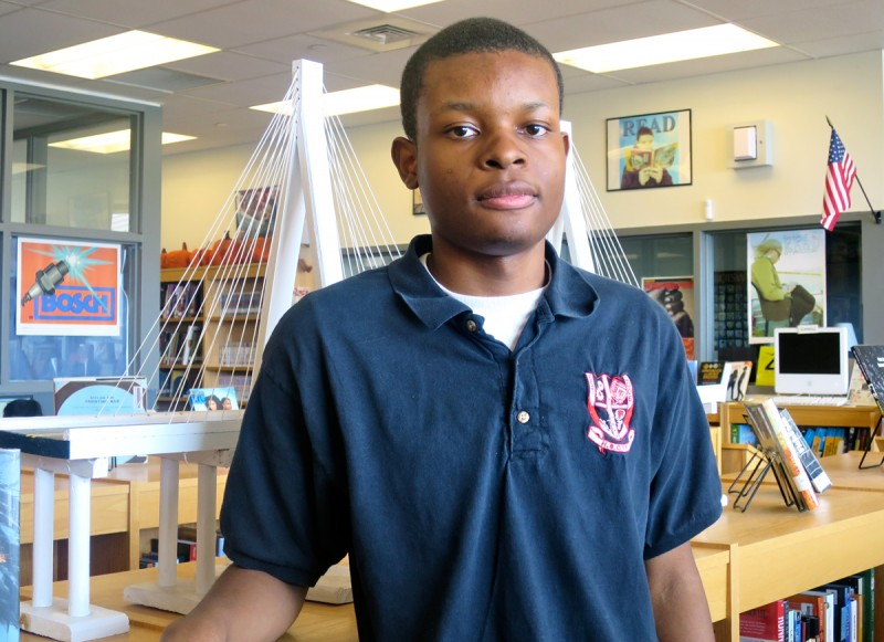 "As he prepares to graduate from the High School for Construction Trades, Engineering and Architecture, Ashaki Gumbs said the school provided him with ""endless opportunities to get my mind going."""