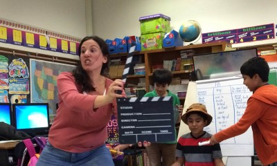 Edison Elementary School language development teacher Kelly Budde created a new theater class to help English language learners improve language and literacy and master the more rigorous requirements of Common Core.