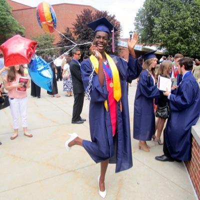 Rhonda Rogombe at her high school graduation.