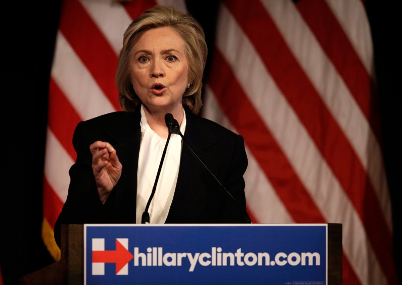 Democratic presidential hopeful Hillary Rodham Clinton speaks at a campaign event in New York, Monday, July 13, 2015.