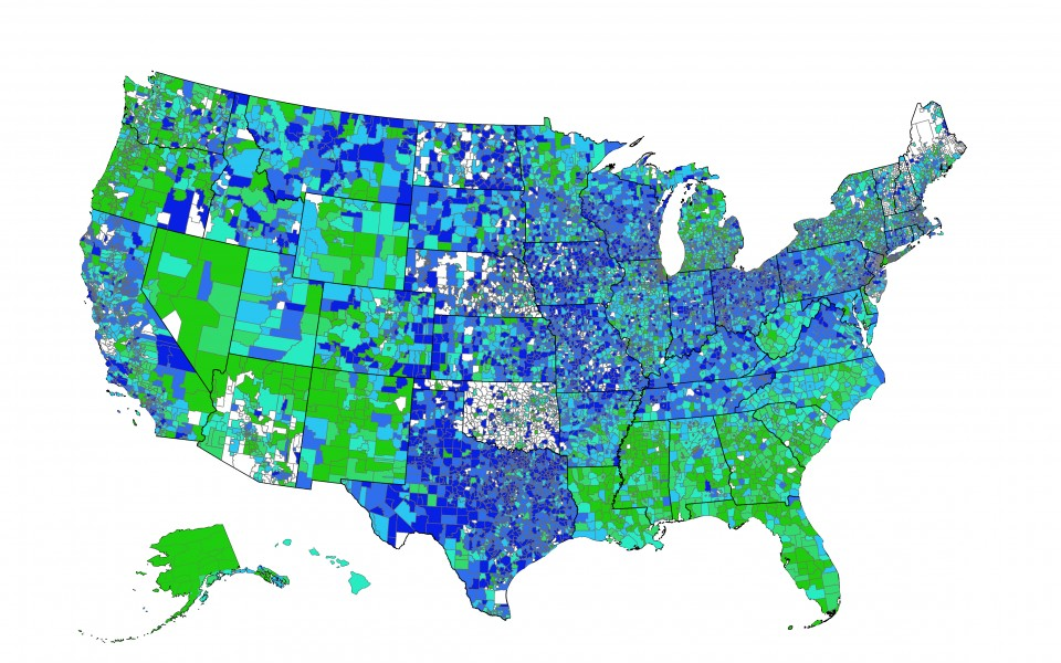 The graduation rates from every school district in one map The
