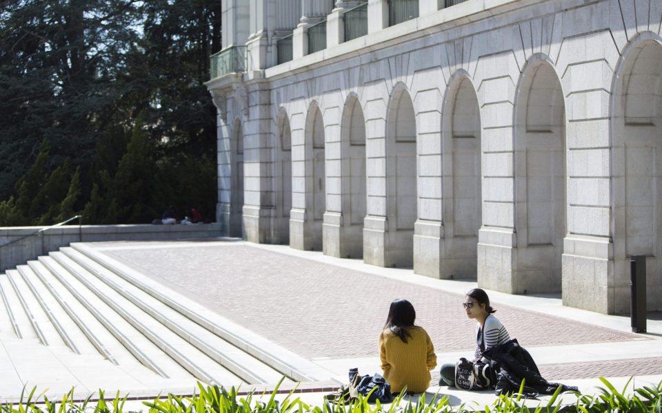 Cal students at UC Berkeley on Friday, April 10, 2015.
