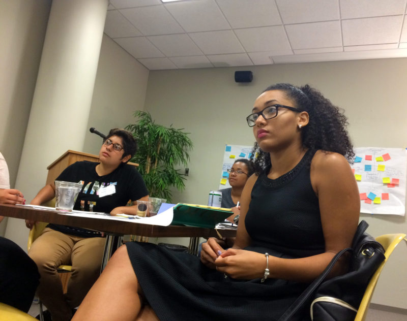 Hunter College junior Raymi Echavarria is spending the summer making sure students from her old high school in Brooklyn make it to college this fall.