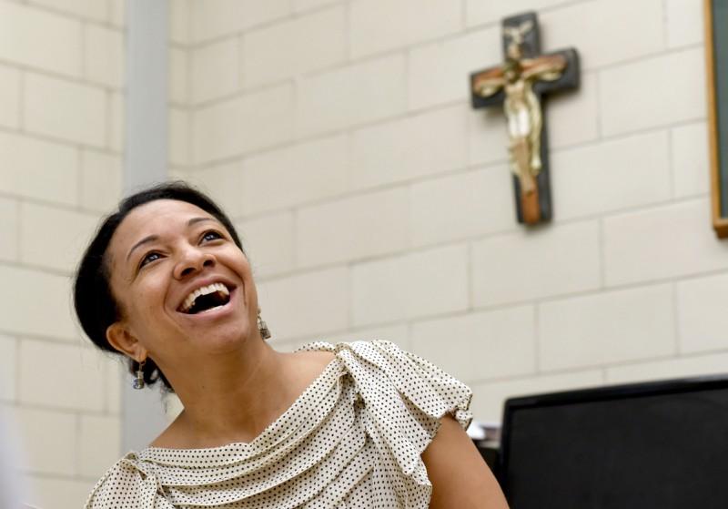 Karen Henderson, principal at St. Rita's Catholic school, talks about the importance of a Catholic education.