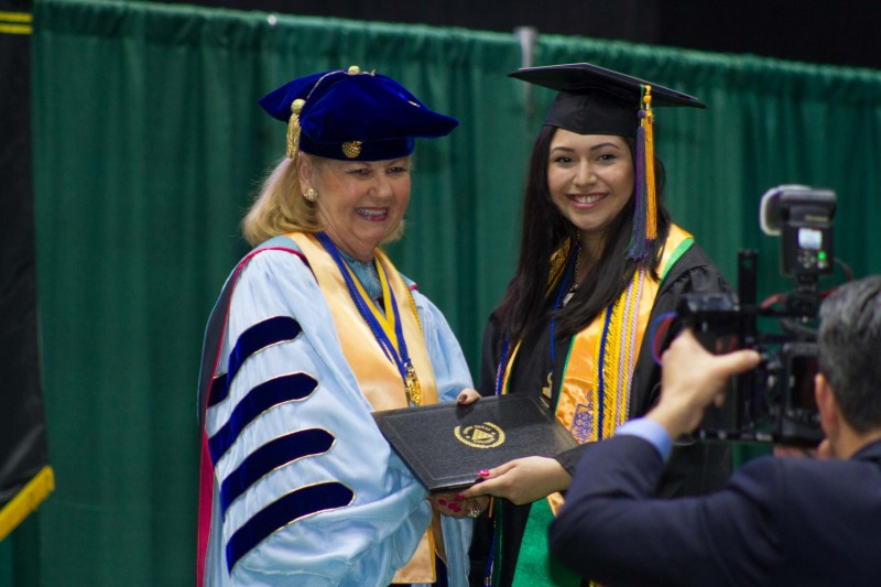 Krystal Balleza, a student at North High School in PSJA, earned her associate's degree two weeks before her high school graduation.