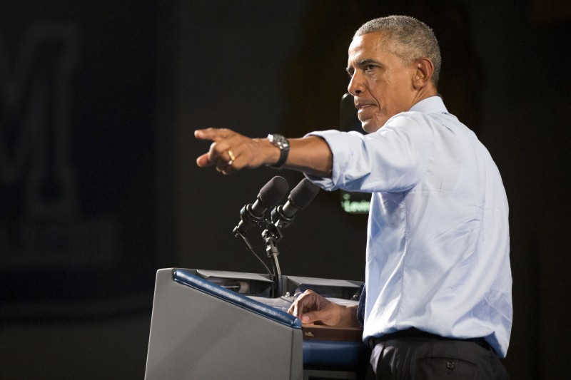 President Barack Obama speaks at Macomb Community College, Wednesday, Sept. 9, 2015, in Warren, Mich. Obama announces new steps to expand apprenticeships and a push to make community college free for responsible students.