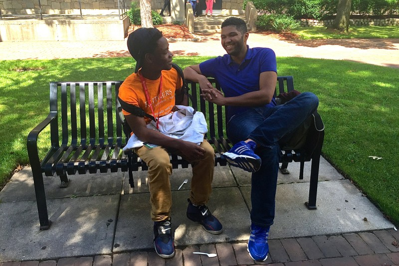 Cooperman Scholar Sideeq Waziri and pre-college program director Shawn Jenkins talk about college.