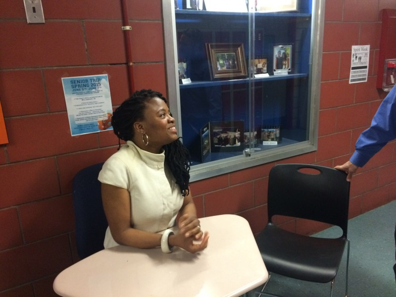 Urban Assembly Gateway for Technology's founding principal, April McKoy, gave up her office last year for a desk in the hallway.