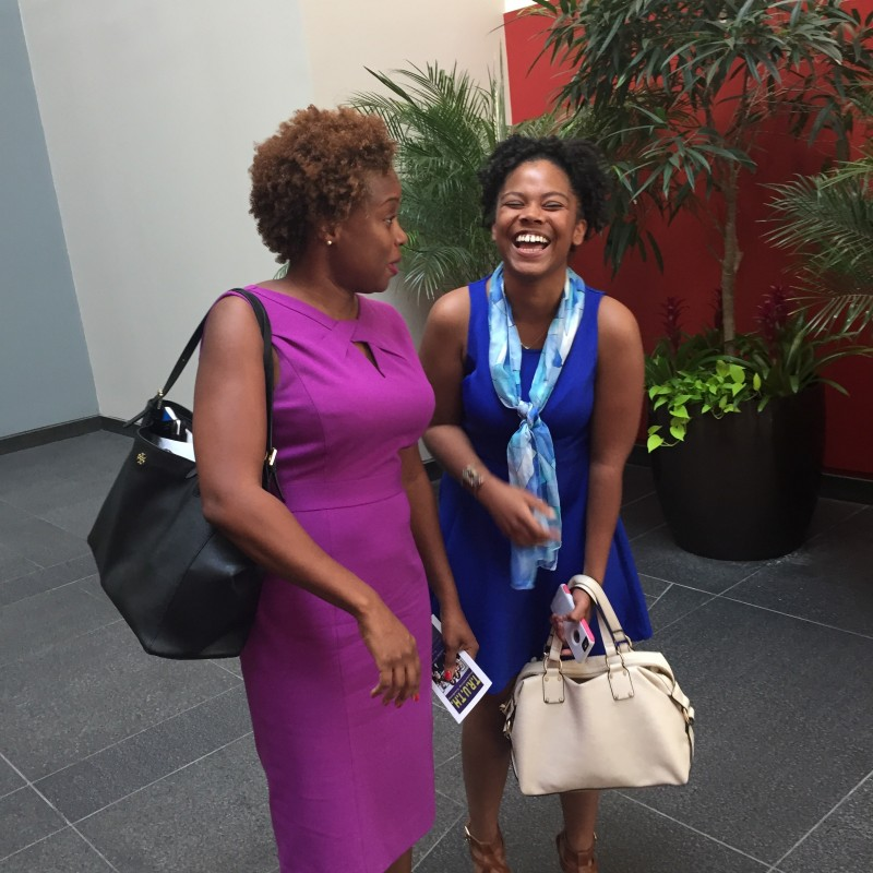 Khalilah Harris, Deputy Director of the White House Initiative for Educational Excellence for African Americans (right) with Anita Sewell, 19, creator of the Souls of Black Girls.