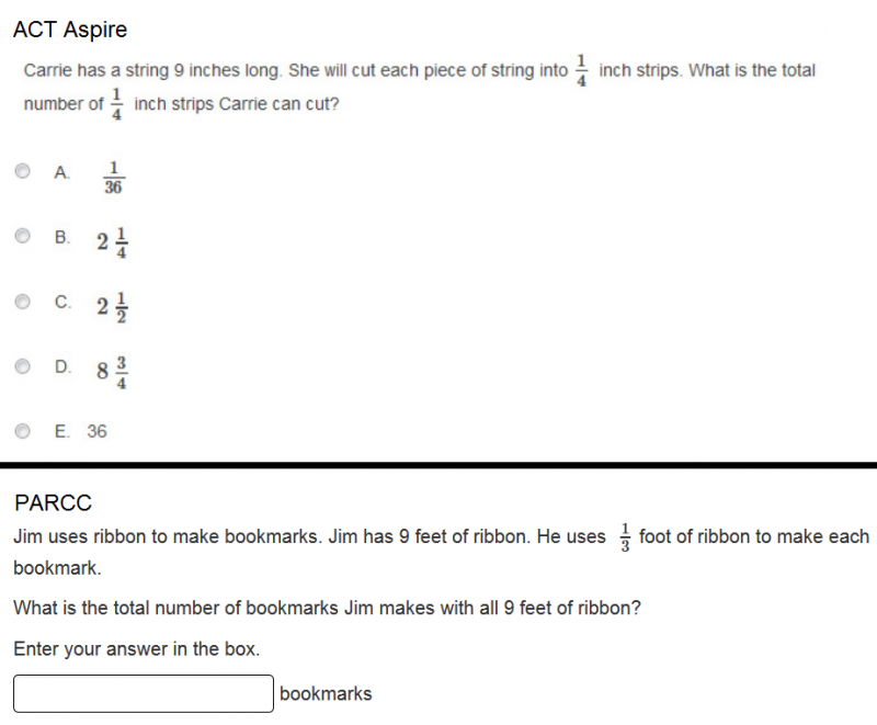 Could you answer these Common Core test questions?