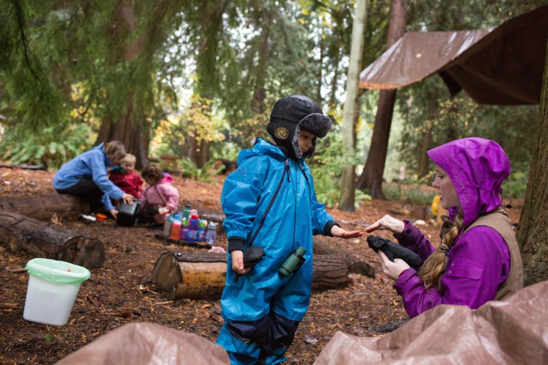 Into the woods: When preschoolers spend every class outdoors - The ...