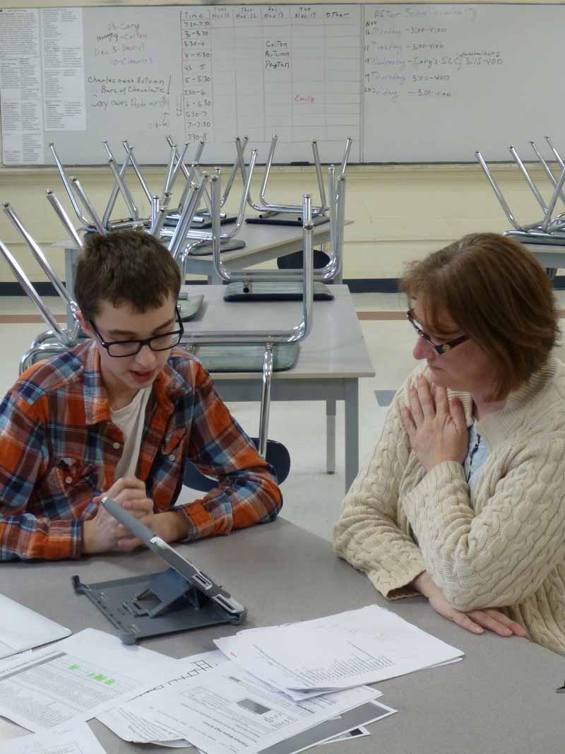 What happens in student-led parent-teacher conferences?