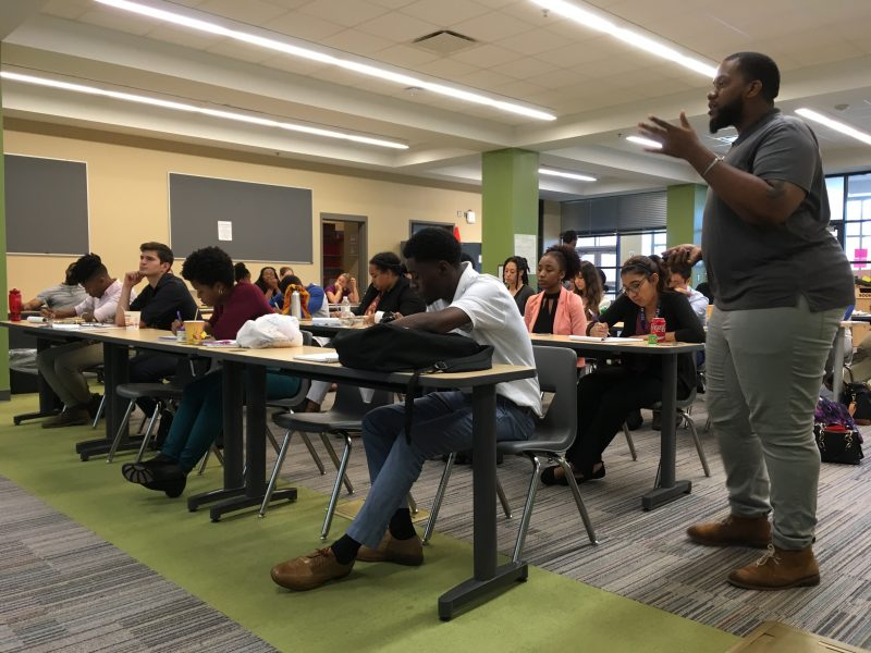After campers leave for the day, teaching fellows finish the workday with professional development sessions.