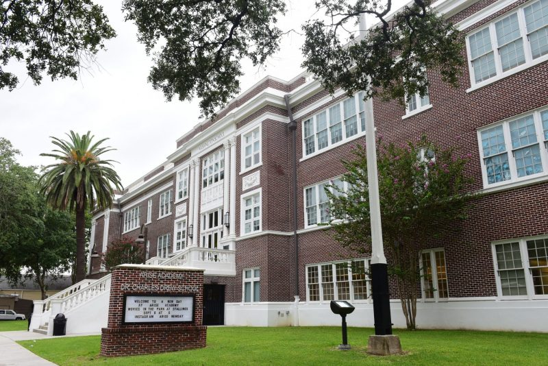 Arise Academy in New Orleans. The school's name is based on the acronym of its core values: Achievement, Respect, Innovation, Service and Enthusiasm.