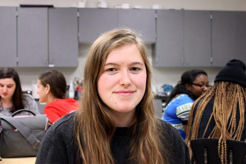 Emilia Olson, an 11th-grade student at Palmetto Scholars Academy in North Charleston, S.C.
