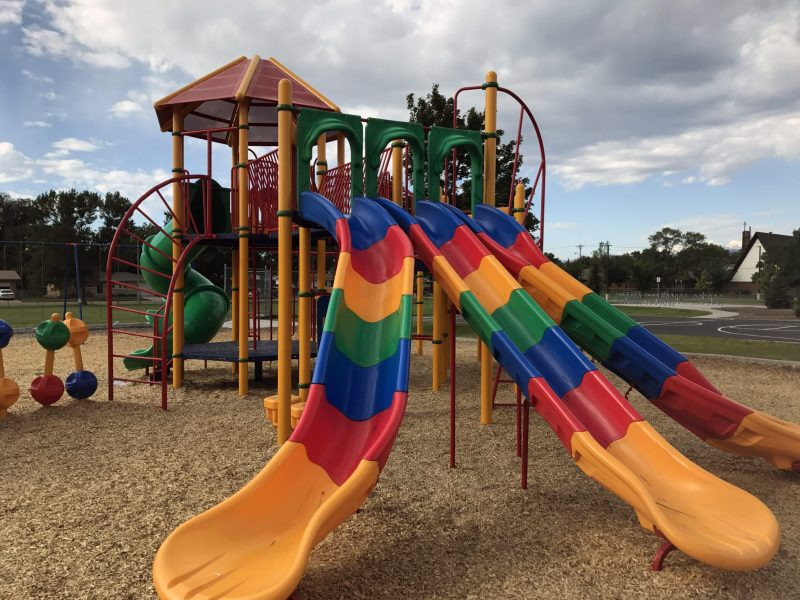 The student-created playground at Mountain View Elementary School in Longmont, Colo.