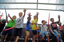 Children at Singapore's Sports Hub.