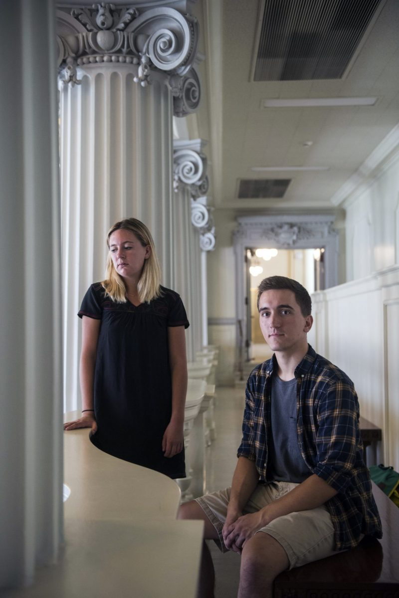 Katherine Kerwin, legislative affairs chair of the University of Wisconsin's student government, and Jordan Gaal, chair of the Student Services Finance Committee. Both are pushing back a proposal by Gov. Scott Walker to let students opt out of paying fees for clubs and causes with which they disagree. A Minnesota legislator has made a similar proposal.