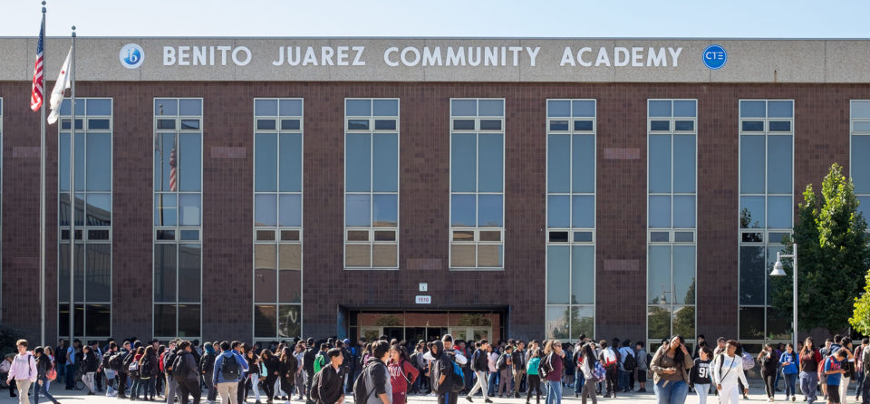 Benito Juarez Community Academy serves 1,800 students in Chicago's lower West Side neighborhood.