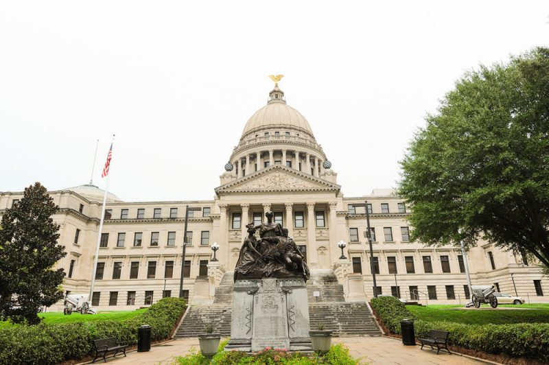 The Capitol building in Jackson, Mississippi. Jackson Public Schools entered into an agreement with a private foundation, the City of Jackson, and the Governor's office to improve its schools.