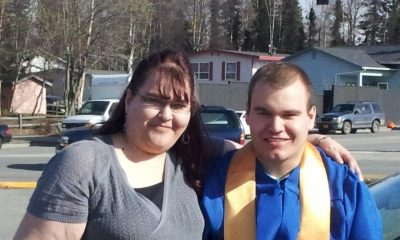 Michael McLaughlin and his mother, Michelle, at Michael's 2013 graduation. Michelle McLaughlin said Michael's education did not prepare him for college or career.