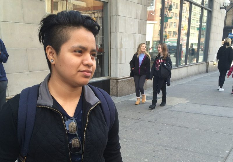 """""""I had moments last semester when I didn't want to study anymore. I thought: I'll just work my job and get paid, and that's it,"""" said Zuleima Dominguez, a student at Hunter College."""