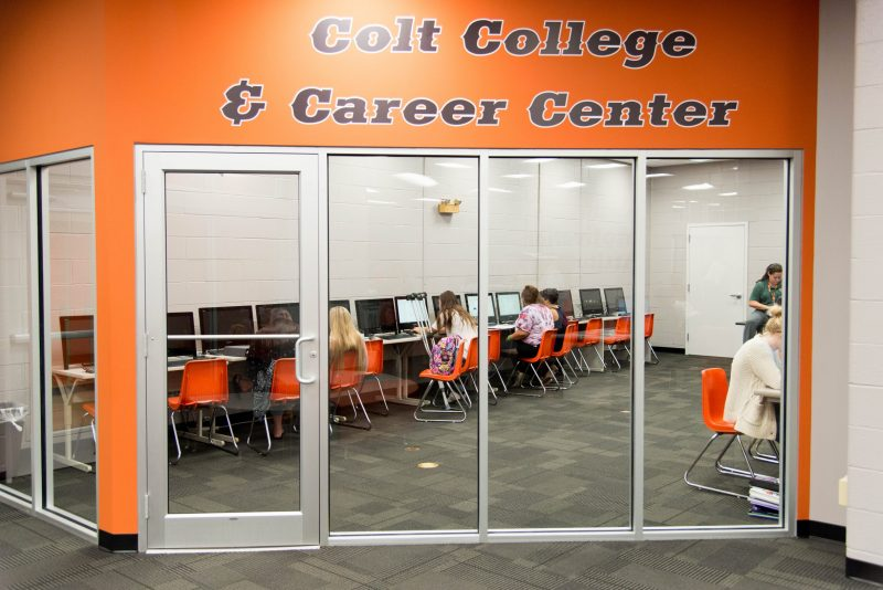Meadowbrook High School's Colt College and Career Center is a purpose-built space for the school's dual-enrollment students.