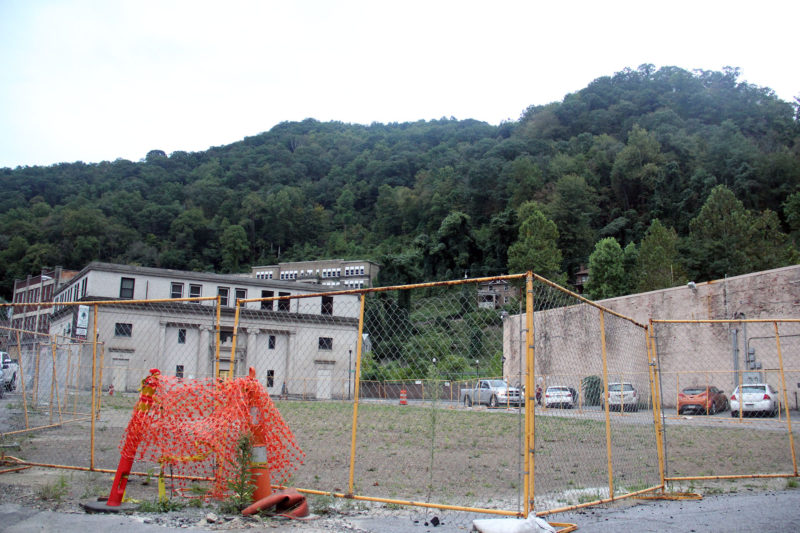 A vacant lot is all there is of a planned multi-unit apartment complex for teachers and other professionals behind the Marquee Cinemas in Welch.