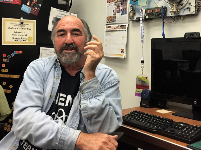 Larry Rosen, psychology professor, is part of a team at Cal State Dominguez Hills using behavioral studies, physiological stress measures and brain scans to investigate how the distraction and anxiety engendered by digital devices can hurt learning.